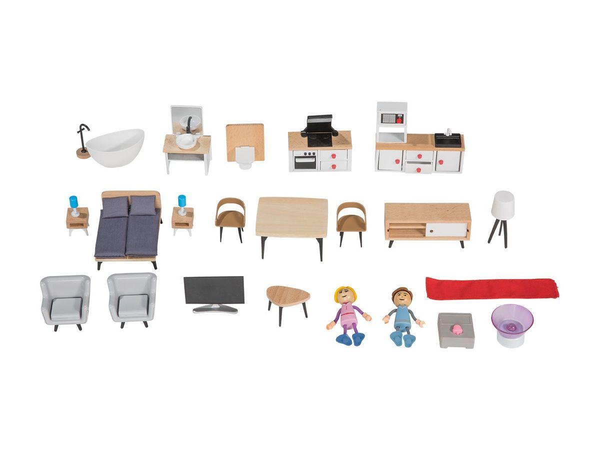 Bild 4 von PLAYTIVE® JUNIOR Puppenhaus, 34-teilig