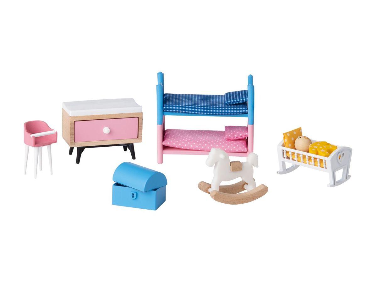 Bild 4 von PLAYTIVE® JUNIOR Puppenhaus-Möbelset/ 6 Biegepuppen