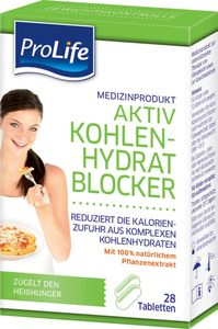 ProLife Kombi Tray 8x Aktiv Kohlenhydrat Blocker, 28 Tabletten