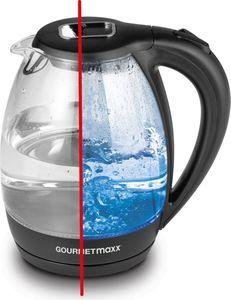 GOURMETmaxx Glas-Wasserkocher LED-Beleuchtung 1,7l 2200W schwarz