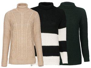 ESMARA® Damen Grobstrick-Pullover