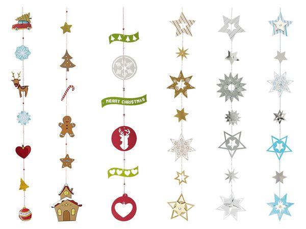 CRELANDO® Bastelsortiment Weihnachtsgirlande
