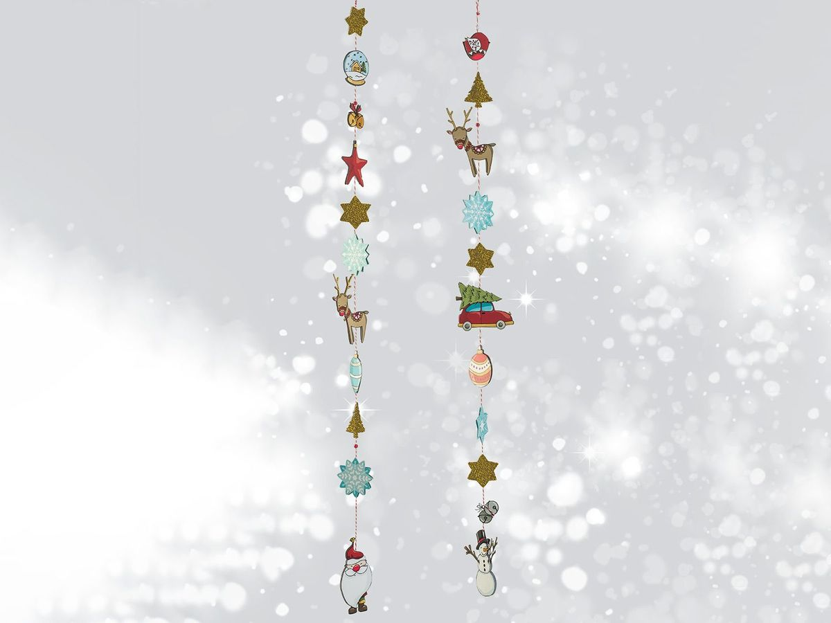 Bild 5 von CRELANDO® Bastelsortiment Weihnachtsgirlande