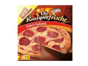Die Knusperfrische Pizza Edel-Salami XXL