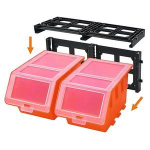 Lagersichtboxen mit Deckel, 4er-Set
