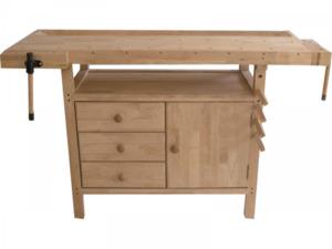 BASIC                 Holz-Hobelbank mit Unterschrank