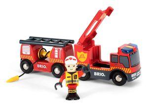 BRIO World Feuerwehr-Leiterfahrzeug mit Licht & Sound