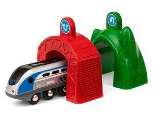 BRIO World Smart Tech Zug mit Actiontunnels