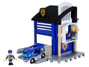 BRIO World 33813 Polizeistation mit Einsatzfahrzeug