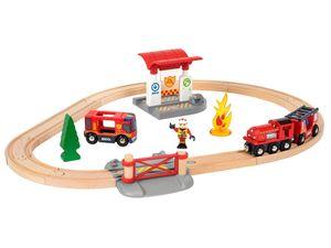BRIO World Bahn Feuerwehr Set