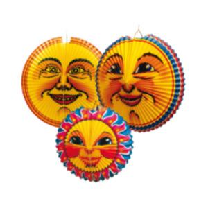 Lampion Sonne/Mond oder LED Laternenstab