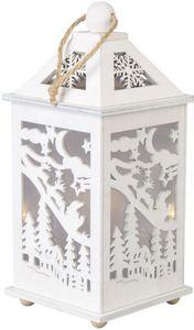 LED-Laterne - Schlitten - aus Holz - 11 x 11 x 24 cm