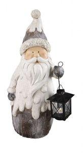 Nikolaus mit Laterne - aus Magnesia - Windlicht