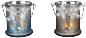 Teelichtglas - Winteridylle - 8,5 x10 cm - 1 Stück