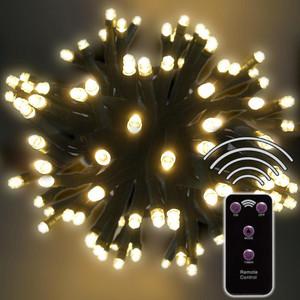 240er LED-Lichterkette warmweiß mit 8 Funktionen Fernbedienung und Timer