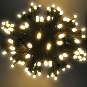 100er LED-Lichterkette warmweiß mit 8 Funktionen für Außen & Innen