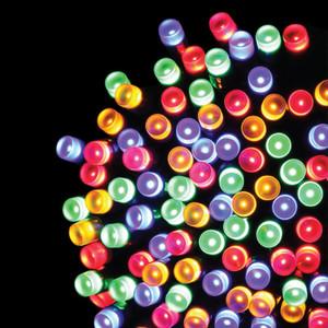 600er LED-Lichterkette bunt gefrostet mit 8 Funktionen für Außen & Innen