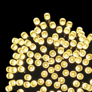 600er LED-Lichterkette warmweiß gefrostet mit 8 Funktionen für Außen & Innen