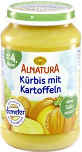 Alnatura Bio Kürbis mit Kartoffeln, nach dem 4. Monat 190 g