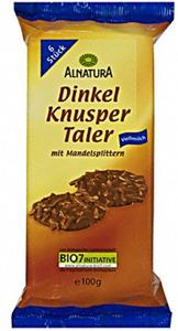 Alnatura Bio Dinkel Knusper Taler Vollmilch 100 g