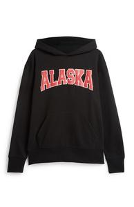 """Schwarzer """"Alaska"""" Kapuzenpullover"""
