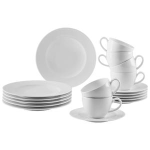Seltmann Weiden Porzellan KAFFEESERVICE 18-teilig, Weiß