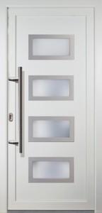 Haustür Signum Exklusiv Modell 92 ,  980 x 2080 mm, DIN rechts, weiß