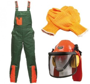 Schnittschutz-Set Größe 52 ,  Größe: 52, best. aus: Hose, Helm und Handschuh