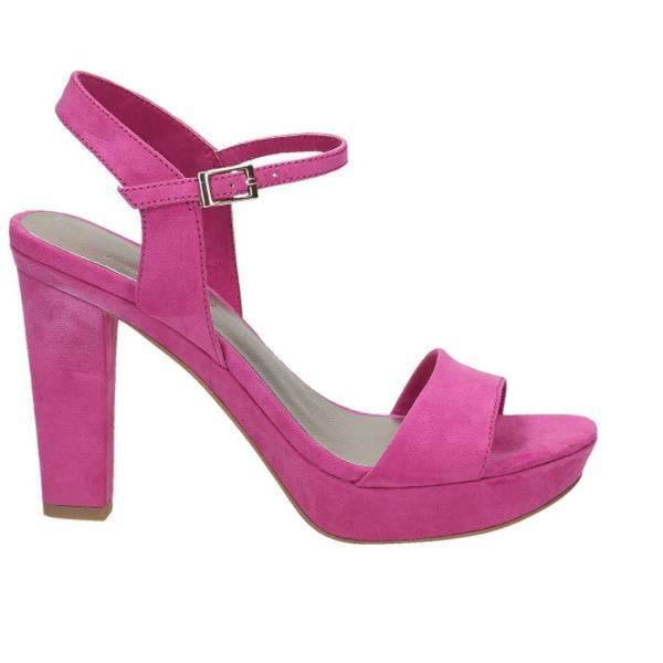 Damen Plateau-Sandalette, pink