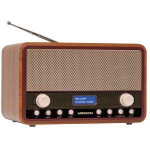 MEDION LIFE® E66312 DAB+ Radio, UKW,  20 Senderspeicher (10 x DAB+, 10 x UKW), Einschlaf- und Schlummerfunktion, 2 x 20 Watt max. Musikausgangsleistung