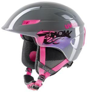 Skihelm u-kid grau-pink 51-55