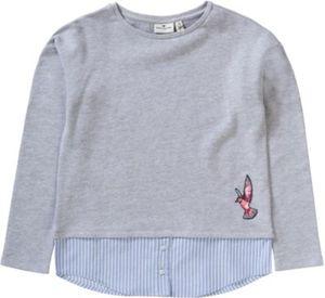 Sweatshirt mit angenähter Bluse Gr. 176 Mädchen Kinder