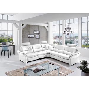 Polsterecke Lederbezug Weiß ca. 272 x 272 cm