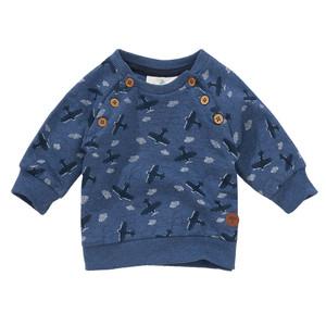 Newborn Sweatshirt mit Flugzeug-Muster