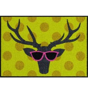 Fußmatte »Funky Deer«, Salonloewe, rechteckig, Höhe 7 mm, waschbar, In- und Outdoor mit rutschhemmender Beschichtung