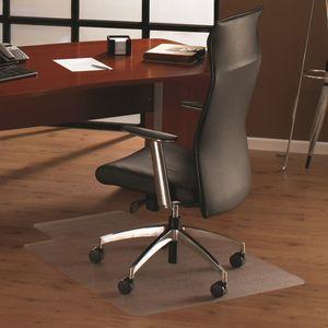 Floortex Cleartex® Bodenschutzmatte für Hartböden, Polycarbonat, 120 x 134 cm, rechteckig mit Lippe, transparent