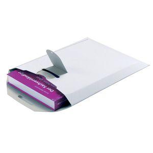 Pressel Versandtasche, ohne Fenster, Steckverschluss, 170 x 245 mm, 500 g/m², Vollpappe, weiß