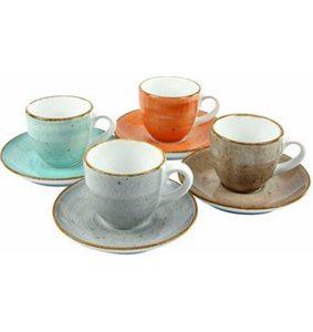 CreaTable Espressotasse »VINTAGE NATURE« (4 Stück), Porzellan