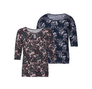 Laura Torelli COLLECTION Damen-Shirt mit Paisley-Muster