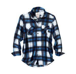 NKD. Reward classic Herren-Fleecehemd mit leuchtend blauem Karomuster 5984412d2c