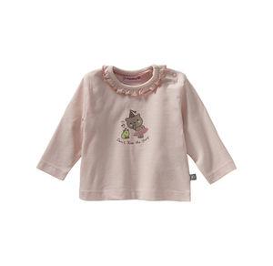 Liegelind Baby-Mädchen-Shirt mit Rüsche am Ausschnitt