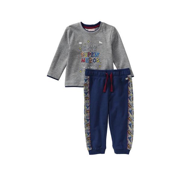 a4b699be8e8c3b Liegelind Baby-Jungen-Set mit seitlichen Kontrast-Streifen