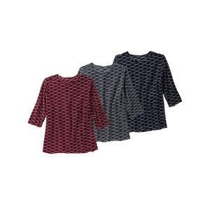 Laura Torelli plus (Gr. 44-58) Damen-Shirt mit toller Struktur, große Größen