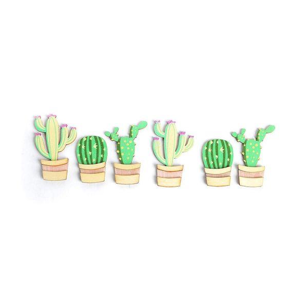 Sticker Kaktus, 6er-Set, grün