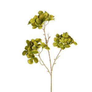 Zweig Hydrangea, L:48cm, dunkelgrün