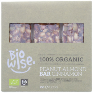 Biowise Erdnuss-Mandel Riegel