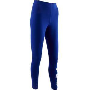 Leggings 500 Slim Gym Stretching Damen blau