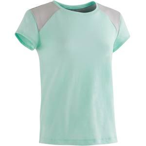 T-Shirt 500 Gym Kinder himmelblau