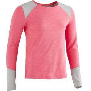 Langarmshirt 500 Gym Kinder rosa
