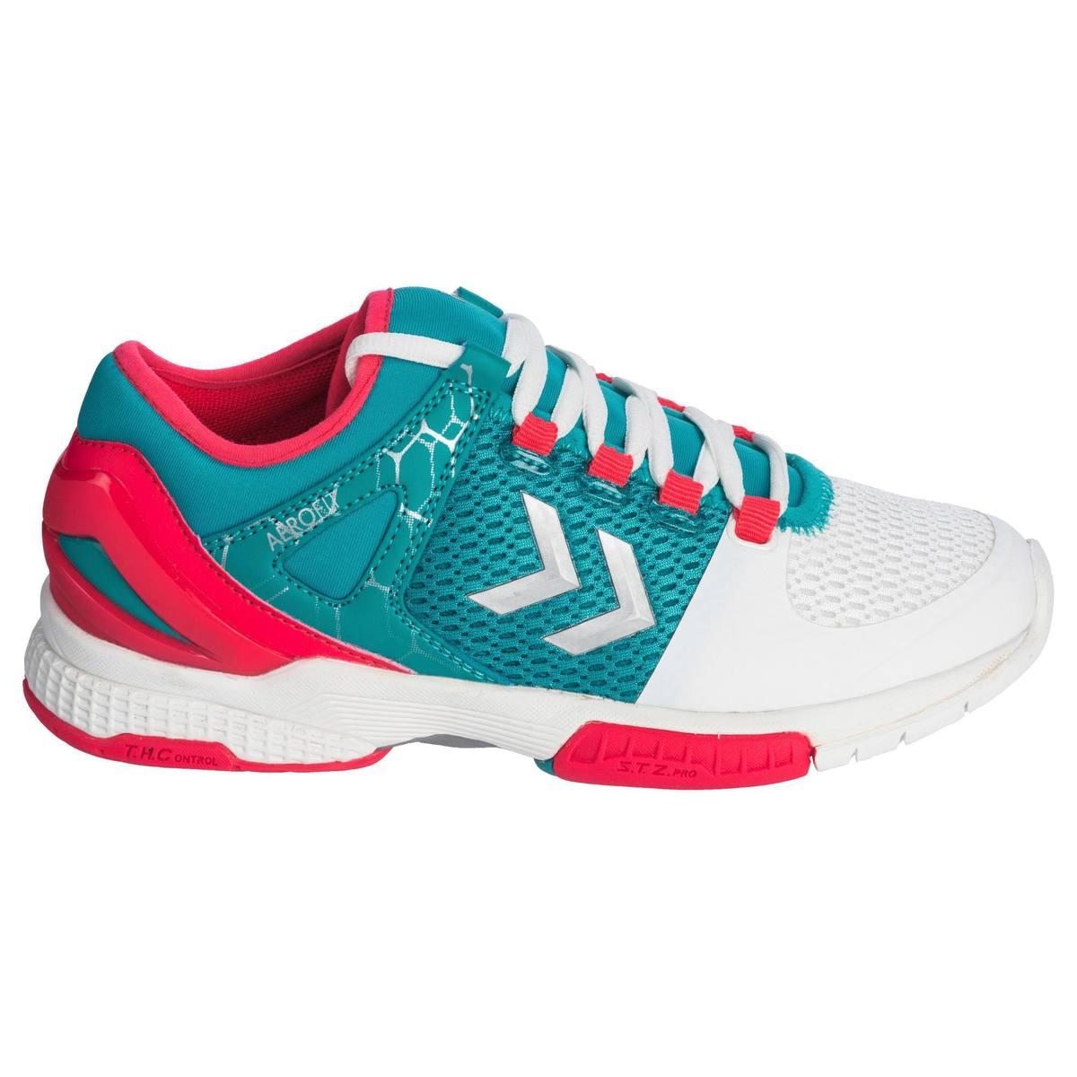 Bild 2 von Handballschuhe HB200 Aerocharge Damen grün/pink